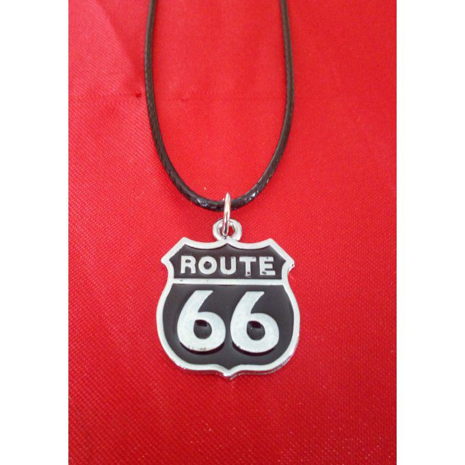 "Collier "" Route 66 "" (noir)"